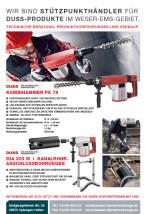 DUSS Kombihammer PX 78 & DUSS DIA 303 W Kanalrohr- anschlussbohrungen